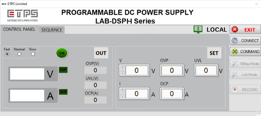 LAB-DSPH Operating GUI