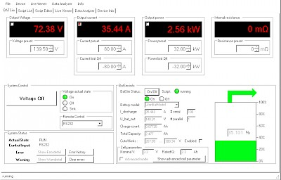 Battery Simulation GUI